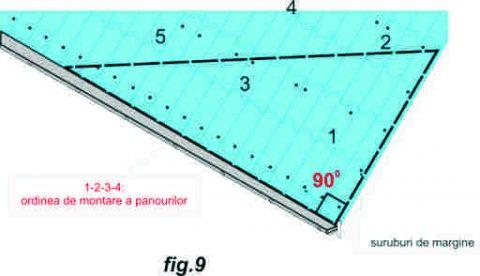 Plan de montaj al acoperisului - fig.9